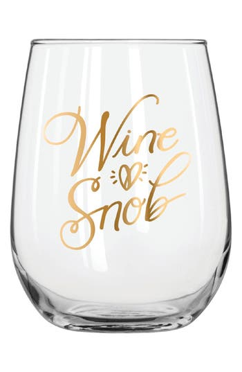Wine Snob Stemless Wine Glass