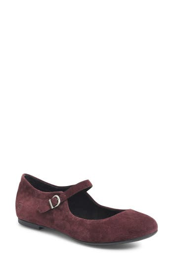 B?rn Arnor Mary Jane Flat, Burgundy