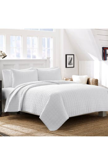 Nautica Maywood Quilt & Sham Set, Size Twin - White