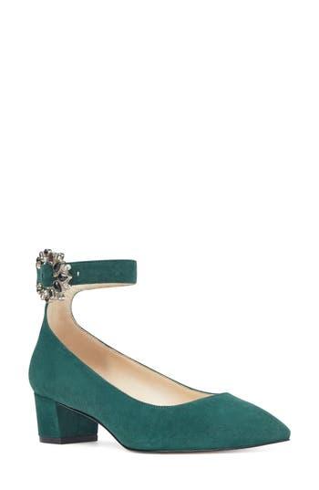 Nine West Bartly Ankle Strap Pump, Green