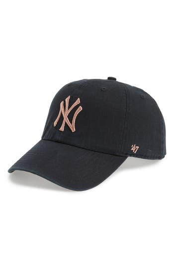 47 female womens 47 ny yankees metallic embroidery baseball cap