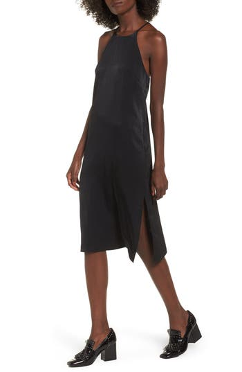Soprano High Neck Shift Dress, Black