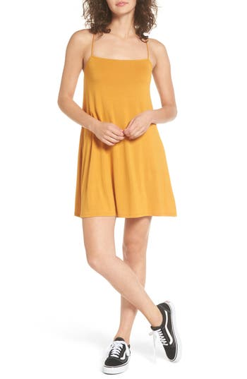 Women's Rvca Rachel Camisole Dress, Size X-Small - Yellow