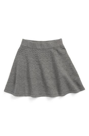 Girl's Milly Minis Chevron Skirt, Size 14 - Grey
