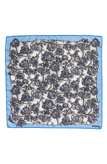 Women's Missoni Floral Print Square Silk Scarf, Size One Size - Blue