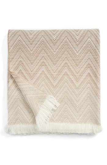 Missoni Timmy Wool Throw Blanket, Size One Size - Beige
