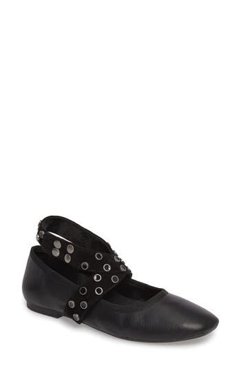 M4D3 Carla Wraparound Ankle Strap Flat, Black