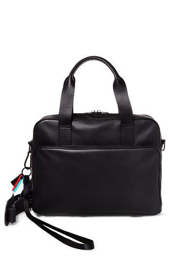 Gq X Steve Madden Leather Computer Bag - Black
