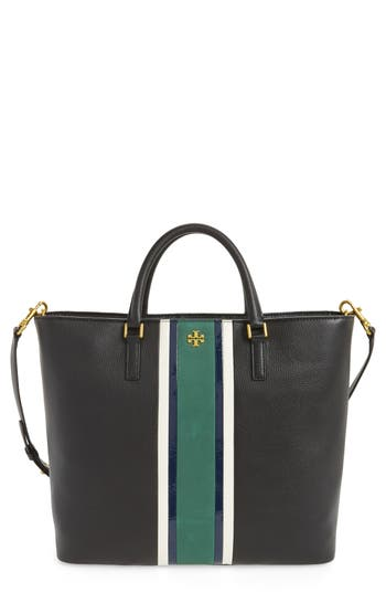 Tory Burch Georgia Stripe Leather Tote -