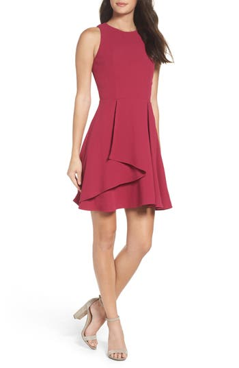 Adelyn Rae Athena Fit & Flare Dress, Purple