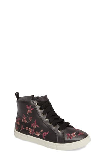 Girls Dolce Vita Zowen Embroidered High Top Sneaker
