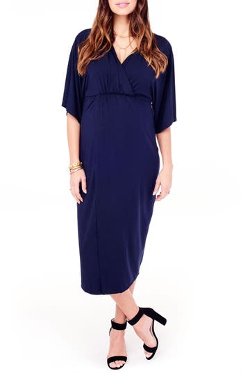 Ingrid & Isabel Dolman Sleeve Maternity Dress, Blue