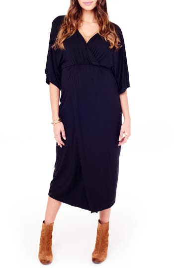 Ingrid & Isabel Dolman Sleeve Maternity Dress, Black
