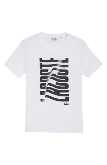 Lacoste Vertical Graphic T-Shirt, White