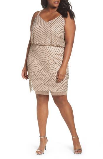 Plus Size Women's Adrianna Papell Beaded Blouson Tank Dress