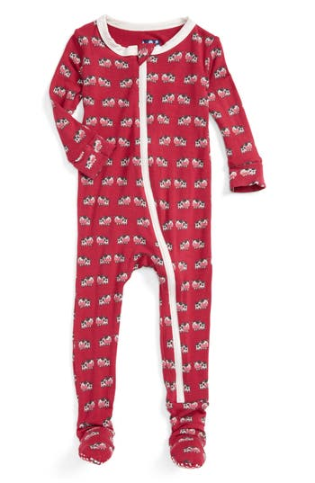 Infant Girls Kickee Pants Fitted OnePiece Footie Pajamas