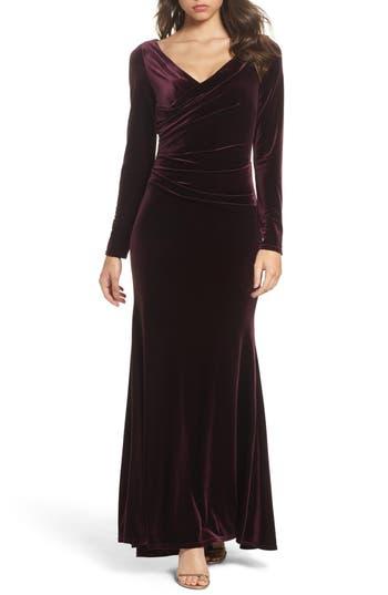Vince Camuto Velvet Gown, Burgundy