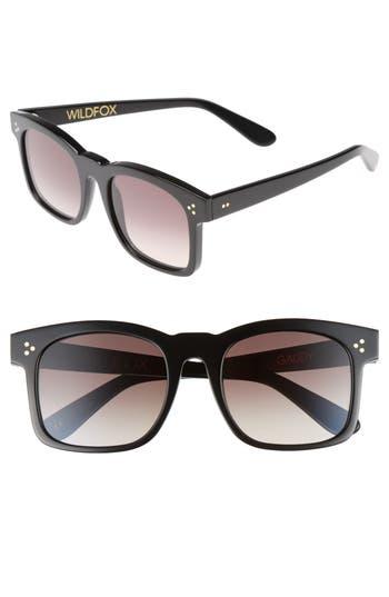 Wildfox Gaudy Zero 51Mm Flat Square Sunglasses - Black