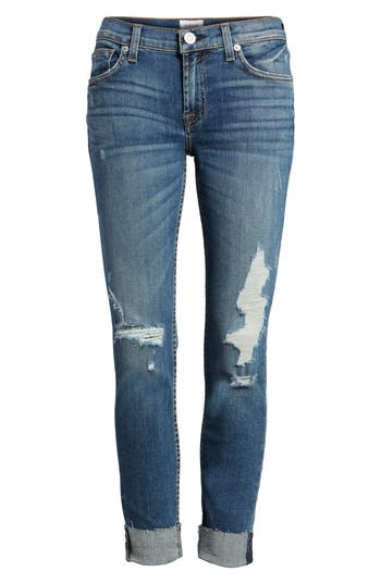 Women's Hudson Jeans Tally Ripped Skinny Jeans, Size 28 - Blue