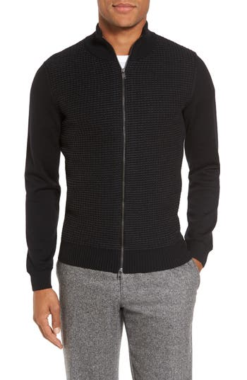Men's Boss Bacco Full Zip Wool Sweater Jacket