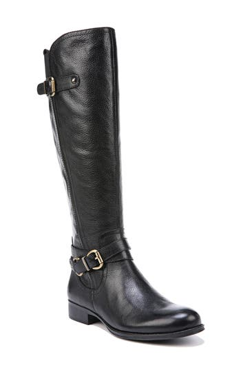 Naturalizer Jodee Knee High Boot, Wide Calf- Black