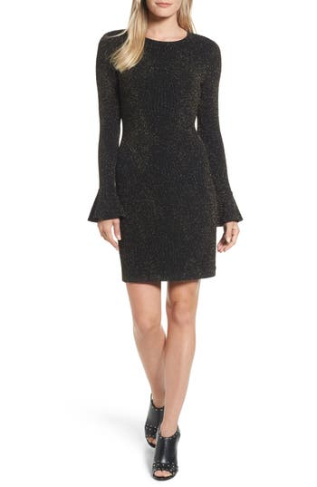 Michael Michael Kors Bell Sleeve Body-Con Dress, Grey