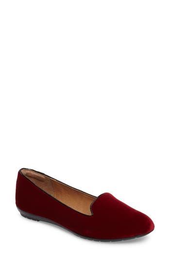 Sofft Belden Almond Toe Loafer, Red