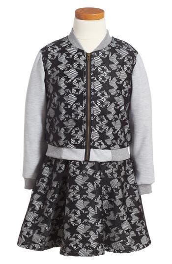 Girl's Pippa & Julie Lace Dress & Jacket Set