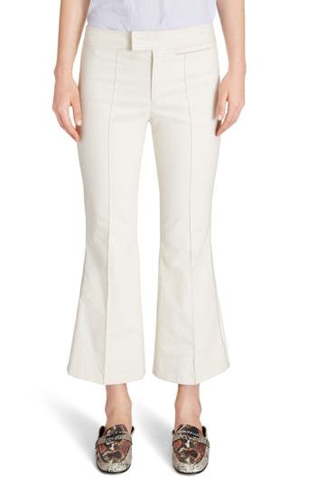 Isabel Marant Lyre Crop Flare Pants, US / 40 FR - White