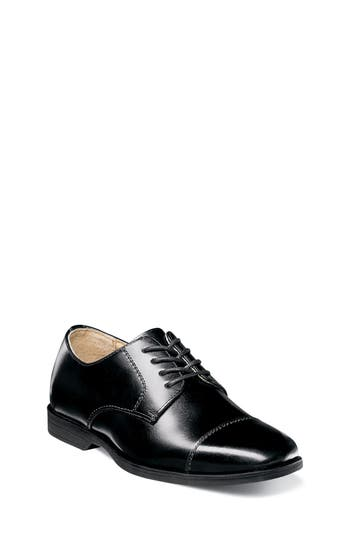 Boys Florsheim Reveal Cap Toe Derby Size 7 M  Black