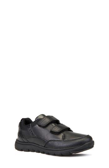 Boys Geox Xunday Low Top Sneaker Size 4US  36EU  Black