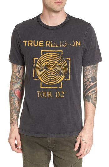 True Religion Brand Jeans Dizzy Tour T-Shirt, Black