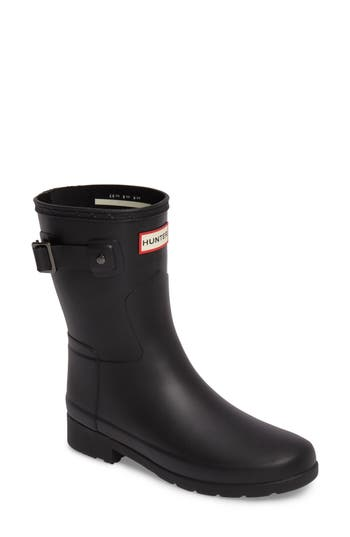 Hunter Original Refined Short Rain Boot, Black