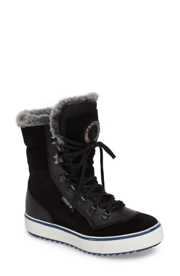 Santana Canada Mixx Faux Fur Waterproof Boot, Black