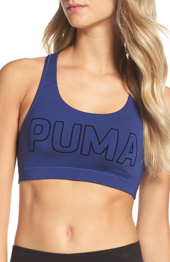 Puma Training Pwrshape Forever Sports Bra, Blue
