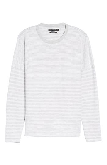 French Connection Stripe Long Sleeve T-Shirt, Metallic