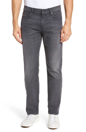7 For All Mankind Standard Straight Fit Jeans, Grey