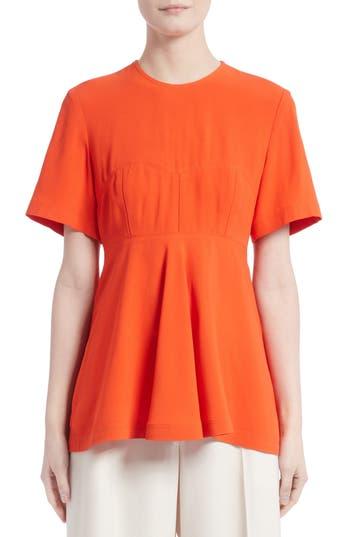 Women's Proenza Schouler Satin Back Crepe Top, Size 2 - Coral