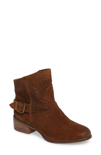 Naughty Monkey Zoey Perforated Bootie- Brown