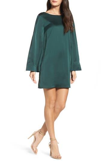Chelsea28 Ruffle Crossback Shift Dress, Green