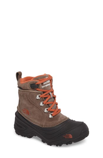Boys The North Face Chilkat Ii Waterproof Insulated Snow Boot Size 6 M  Brown