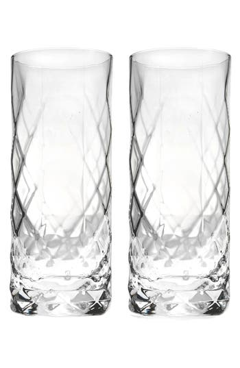 True Fabrications Set Of 2 Highball Glasses, Size One Size - White