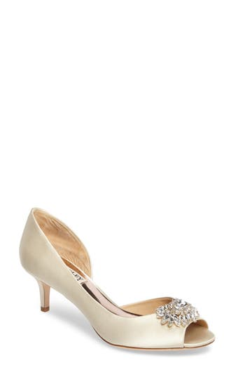 Badgley Mischka Macie Peep Toe D-Orsay Pump