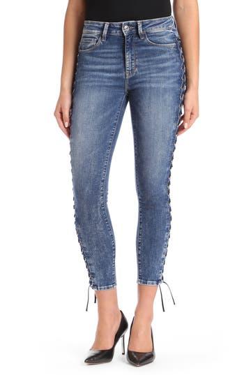 Mavi Jeans Tess Corset Ankle Skinny Jeans, Blue