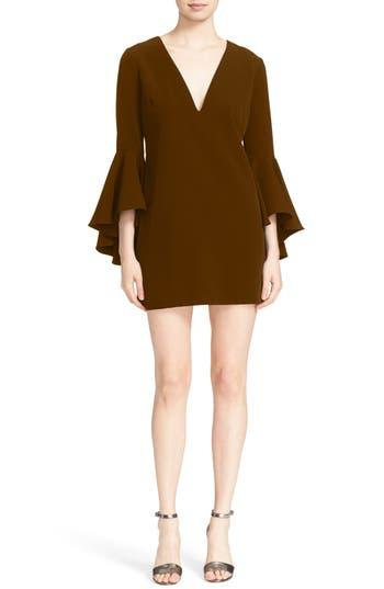 Women's Milly Nicole Bell Sleeve Dress, Size 0 - Burgundy