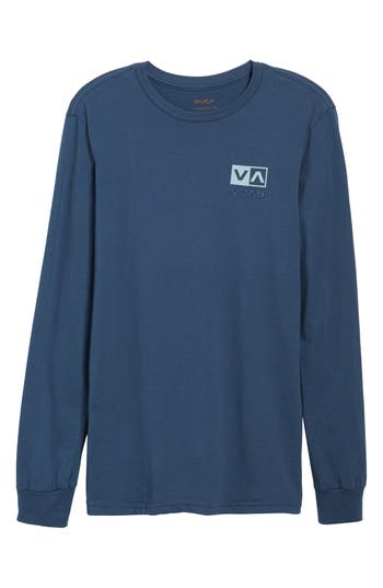 Rvca Flipped Box Graphic T-Shirt, Blue
