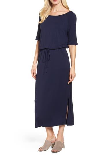 Caslon Tie Waist Maxi Dress, Blue