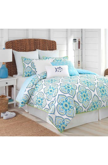 Southern Tide Summerville Comforter, Sham & Bed Skirt Set, Size Full - Blue
