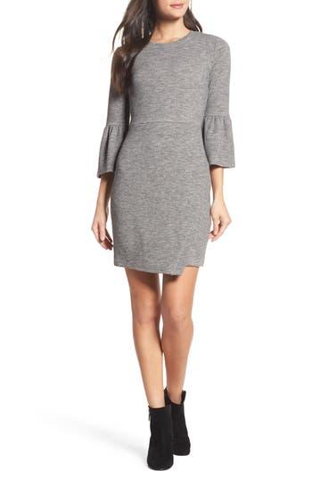 19 Cooper Bell Sleeve Sheath Dress, Grey