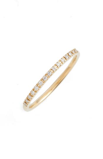 Zoe Chicco Thin Diamond Pave Band Ring